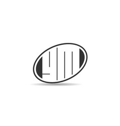 Initial letter gm logo template design vector