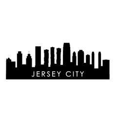 Jersey city skyline silhouette black jersey city vector