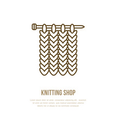 Knitting icon in modern flat line style vector