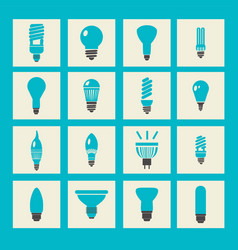 Light bulbs icon set vector