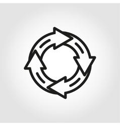 Line arrow circle icon vector