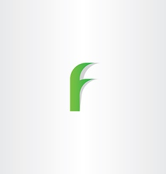 logo f green letter f icon sign design vector image