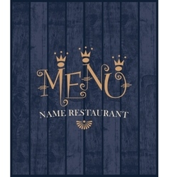 menu with wood texture vector image