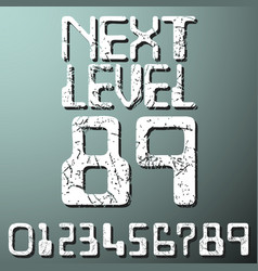 Next level numbers vintage t-shirt stamp vector