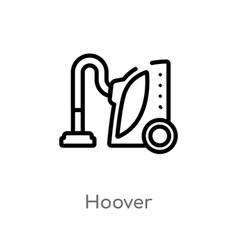 Outline hoover icon isolated black simple line vector