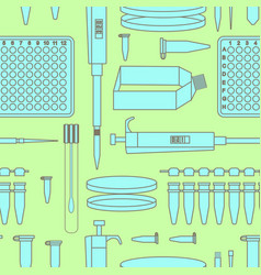 Pcr lab equipment seamless pattern vector