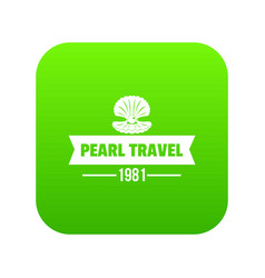 pearl travel icon green vector image