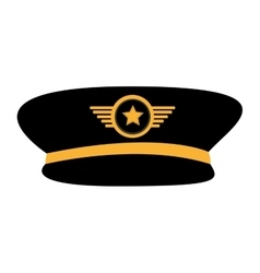 pilot plane hat uniform vector image