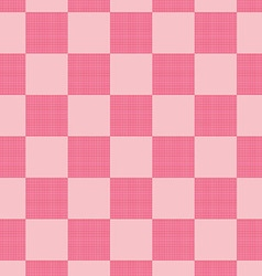 Pink plaid pattern vector image