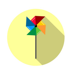 Pinwheel icon in flat style vector