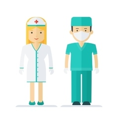 profession medical staff vector image