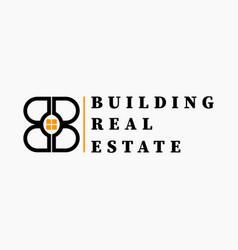 real estate initial letter b b logo design vector image