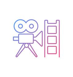 Retro channel gradient linear icon vector