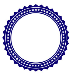 Rosette circular star frame template vector