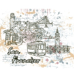 San francisco doodles vector