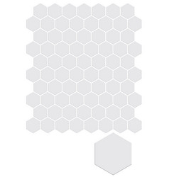 seamless honeycomb pattern seamfree honey comb vector image