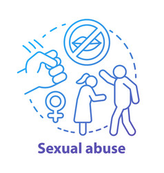 Sexual abuse concept icon domestic violence vector