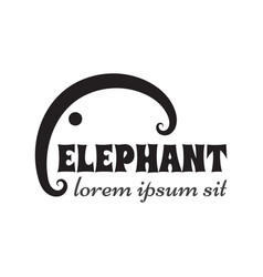 simple outline elephant sign or emblem vector image