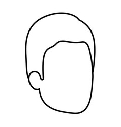 Sketch silhouette of man faceless with hairstyle vector
