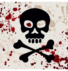 Skull with crossbones vector image