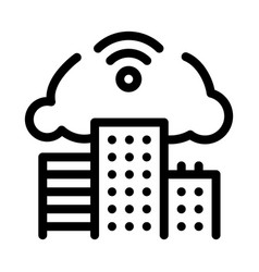 smart city ecology icon outline vector image