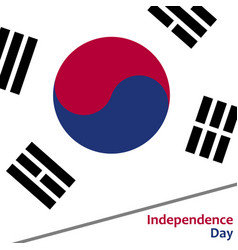 South korea independence day vector