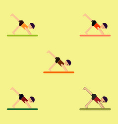 Sport player gymnast boy collection vector