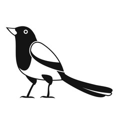 Strange magpie icon simple style vector