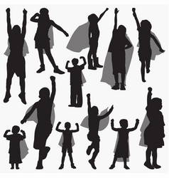 super power silhouettes vector image