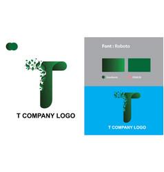T company logo template design vector