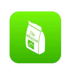 tile adhesive icon green vector image