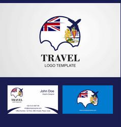 Travel british antarctic territory flag logo and vector