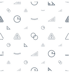 Triangle icons pattern seamless white background vector