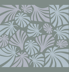 Tropcal leaves seamless pattern beautiful floral vector