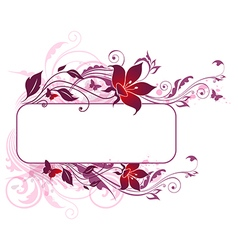 Violet and pink flowers vector