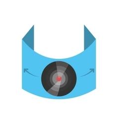 vr circular camera panorama vector image