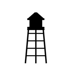 Water tower icon vector