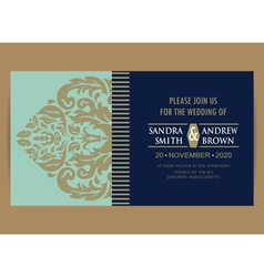 Wedding invitation and save the date card vector image