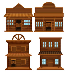 Western style buildings vector