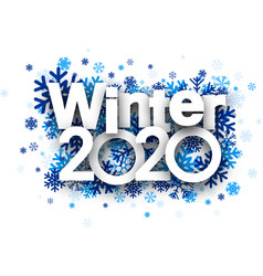 Winter 2020 background with blue beautiful vector