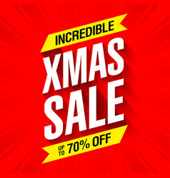 xmas sale banner incredible christmas offer vector image