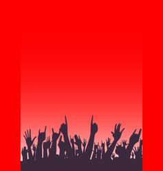 audience poster vector image vector image