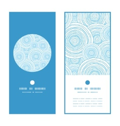 doodle circle water texture vertical round frame vector image vector image