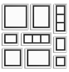 Empty modern frames vector image