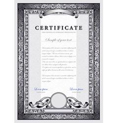 Vintage silver certificate vector