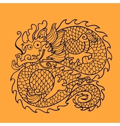 Chinese dragon character vector image