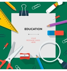 Education and science concept - template with vector image
