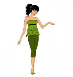 girl in retro style vector image