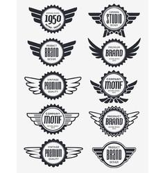 Retro logo badge collection vector