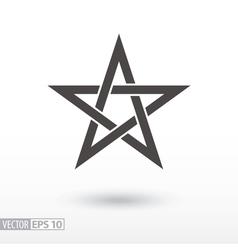 Sign Star 5-point Celtic star knot Pentagram vector image vector image